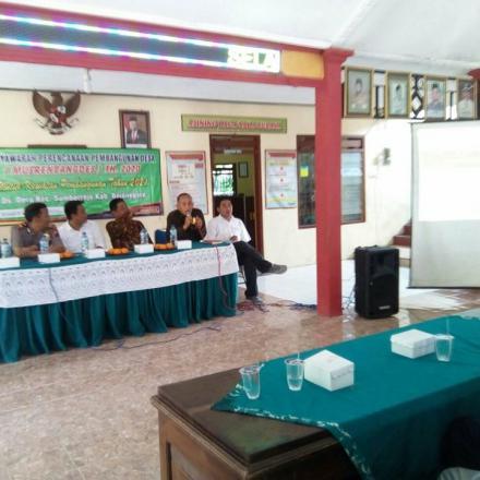 Desa Deru Kecamatan Sumberrejo Bojonegoro Gelar Musrenbangdes 2021