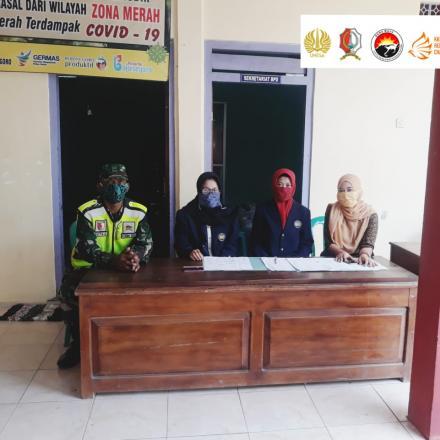 Mahasiswi Unesa Bantu Penanganan Covid-19 di Desa Deru